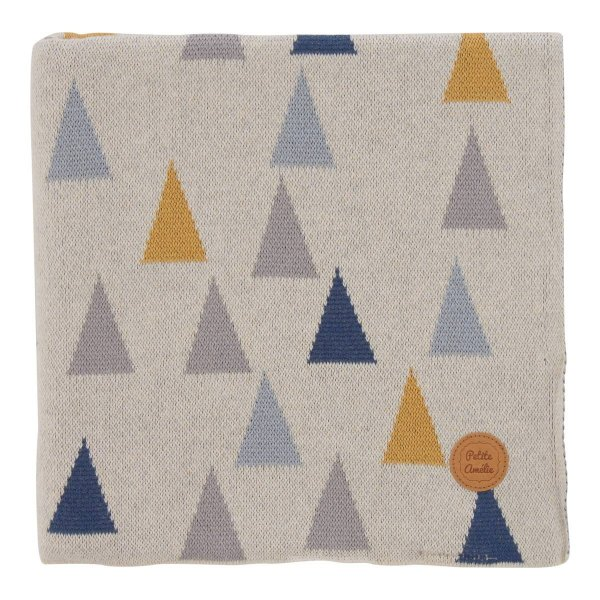 Baby Blanket with Coloured Triangles from Petite Amélie