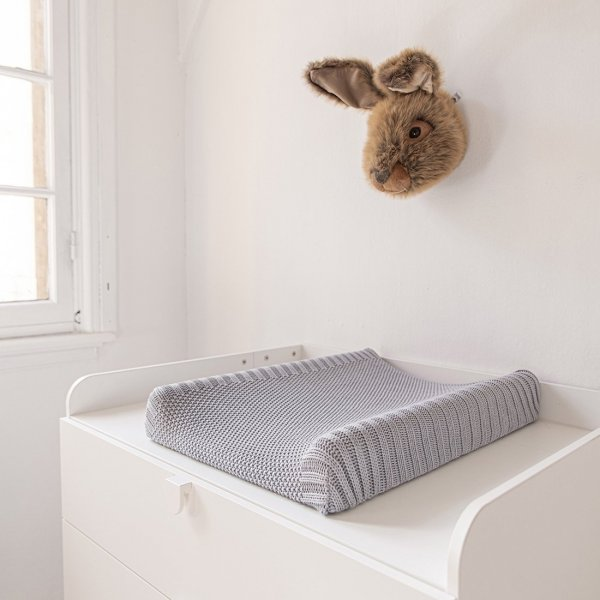 Baby Changing Mat Cover Sheet in Light Blue from Petite Amélie