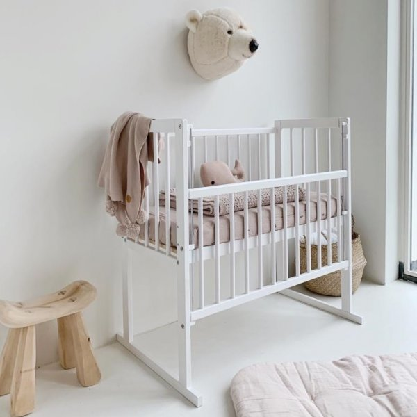Bedside Sleeper Crib Baby Bed White Lilly from Petite Amélie
