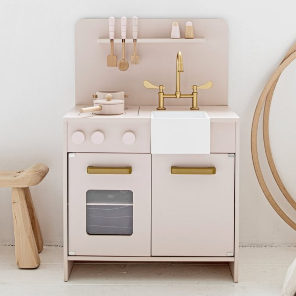 Pink Wooden Toy Kitchen from Petite Amélie