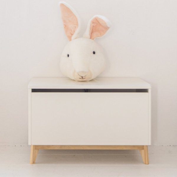 Toy Box White Wooden from Petite Amélie