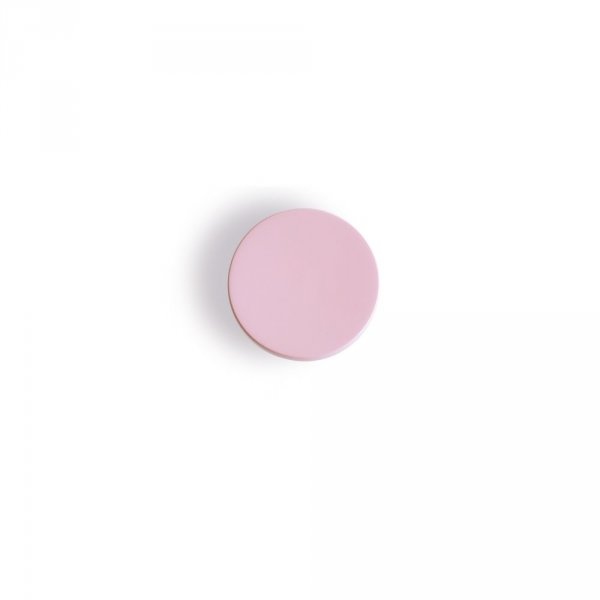 Wall Hook Button Wood in Pink 13cm