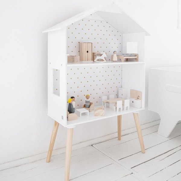 Wooden Dolls House Shelf