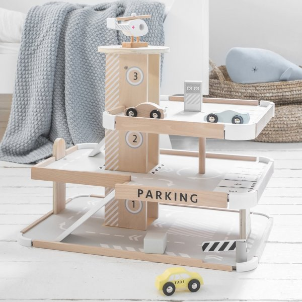 Wooden Toy Parking Garage