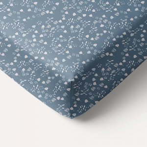 120x60cm_girls_blue_fitted_sheet_with_dainty_flower_print_petite_amelie