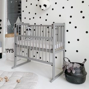 Alain Bedside Sleeper Crib in Grey from Petite Amélie