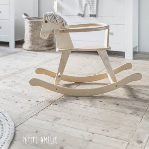 Natural Wooden Rocking Horse