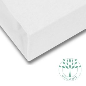 Organic Cotton Fitted Bed Sheet for Children in Off-White from Petite Amélie