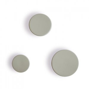 Wooden Button Wall Hooks in Grey Green
