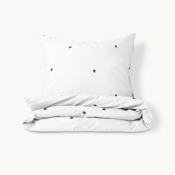 white acorn kids bedding
