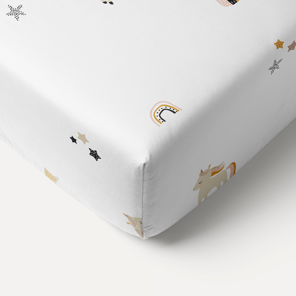 unicorn toddler fitted sheet