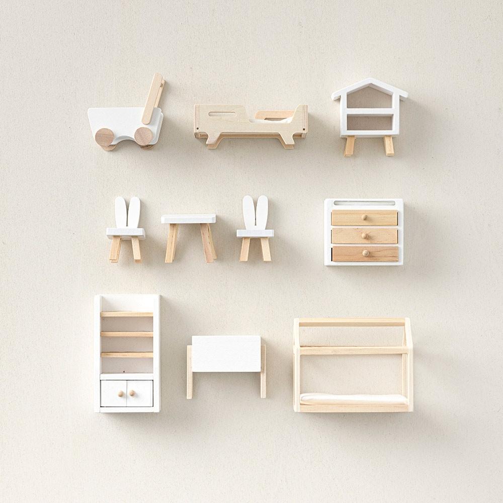 kidsroom 10 piece doll house furniture